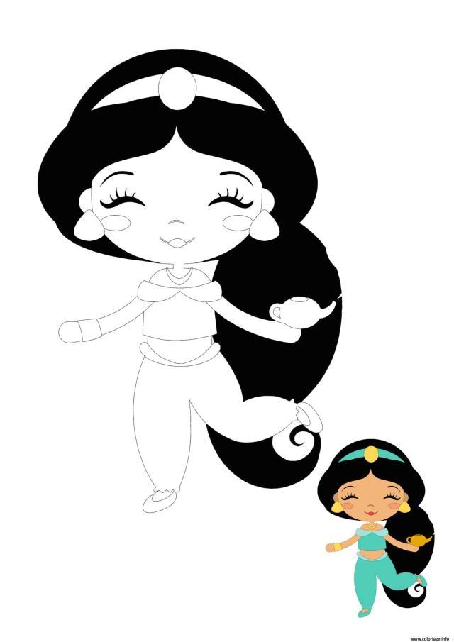 Coloriage Bebe Disney Princesse Jasmine Dessin Princesse à imprimer