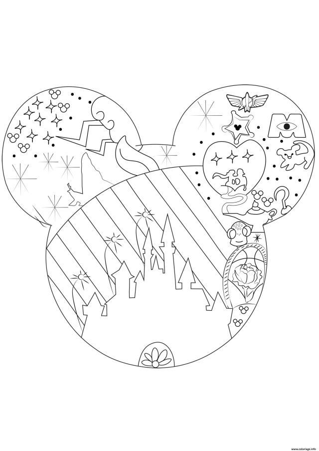 Coloriage Adulte Univers Disney Dessin Disney Adulte à imprimer