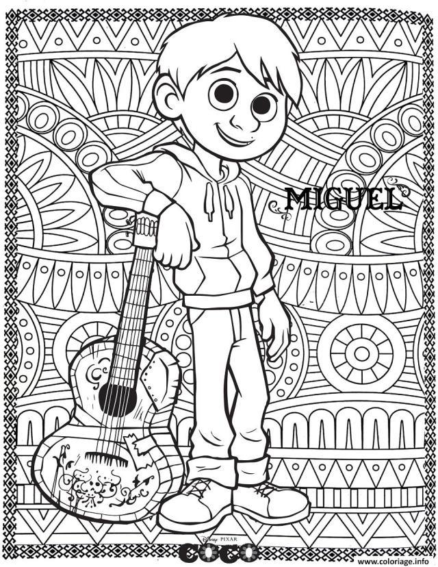 Coloriage Disney Adulte Mandala Coco Miguel Dessin Disney Adulte à