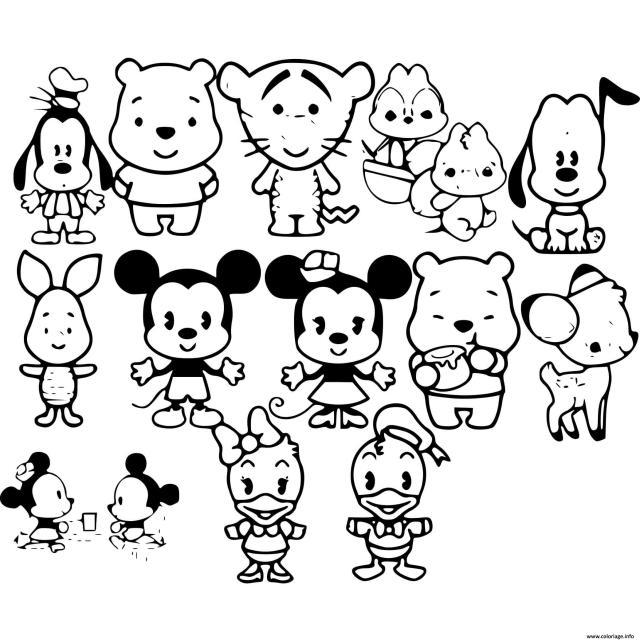 Coloriage Bebe Disney Personnages Dessin Disney Bebe à imprimer