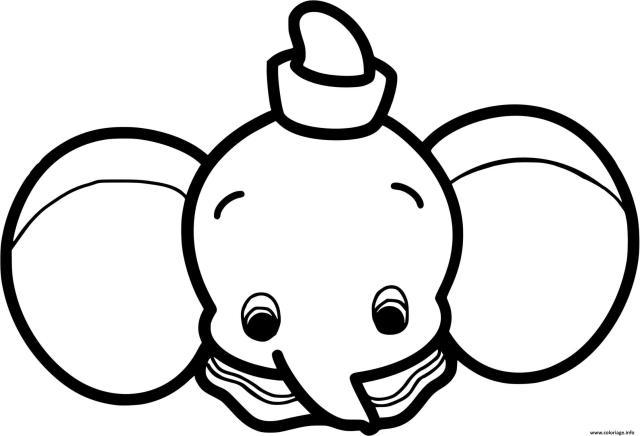 Coloriage Dumbo Bebe Kawaii Dessin Disney Bebe à imprimer