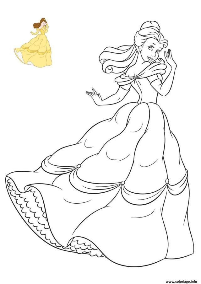 Coloriage La Belle Princesse Disney De France Dessin La Belle Et