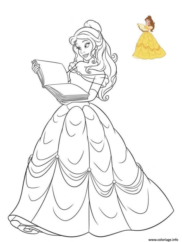 Coloriage Princesse Disney La Belle Dessin La Belle Et La Bete à