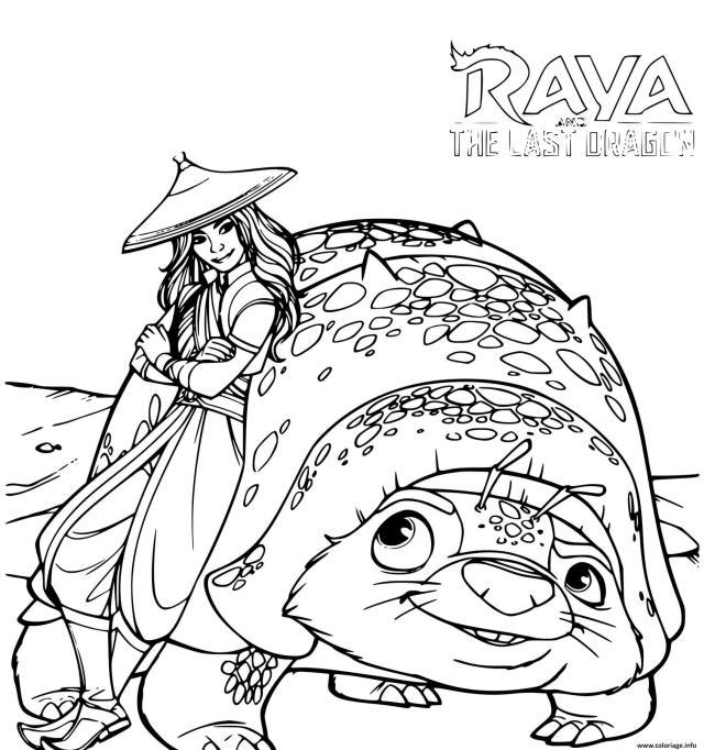 Coloriage Raya Et Le Dernier Dragon Disney Dessin Raya Et Le