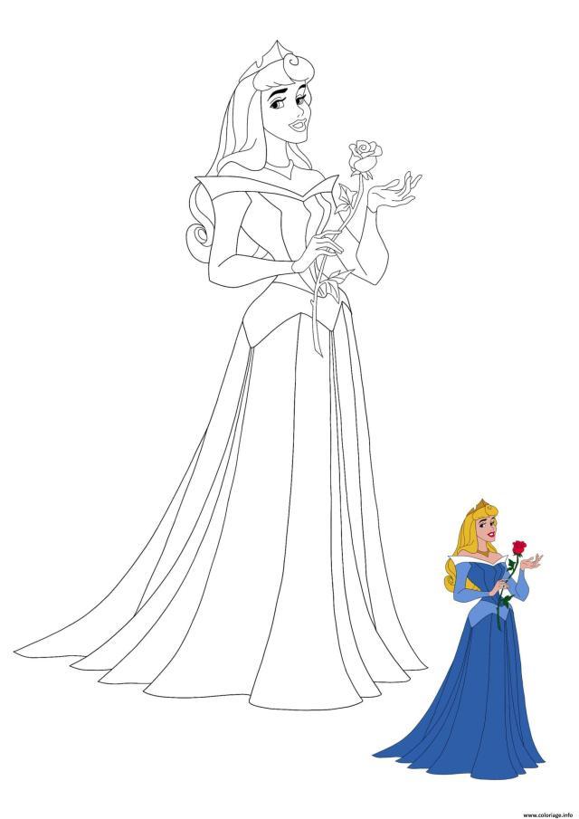 Coloriage Princesse Aurore Disney De La Belle Au Bois Dormant