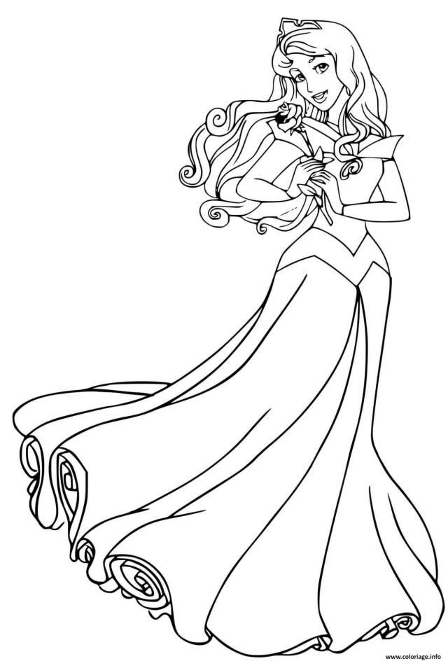 Coloriage Princesse La Belle Au Bois Dormant Disney Dessin La