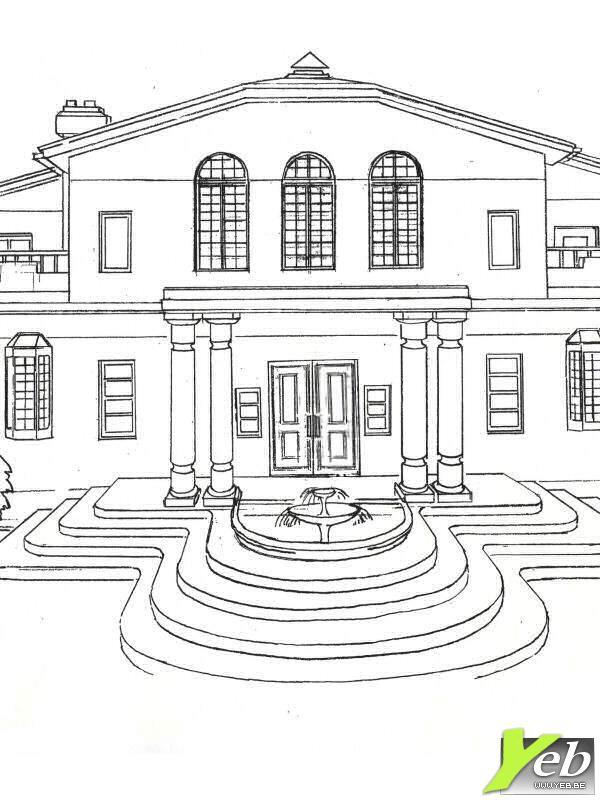 Villa Dessin De Maison Moderne Facile Novocom Top