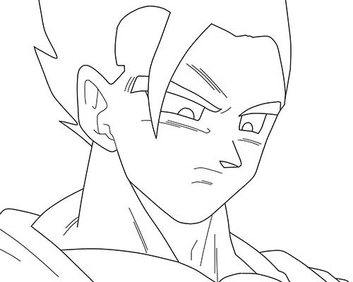 ultra instinto goku coloring pages