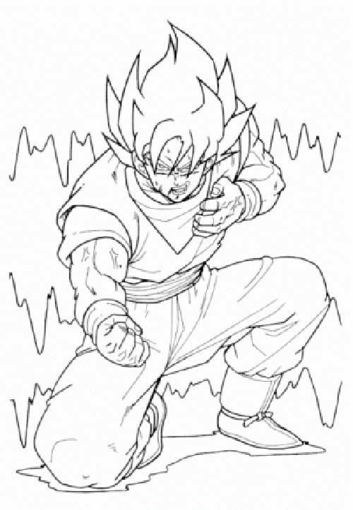 Dibujos para colorear goku black. 50 Desenhos do Goku para Colorir (Anime Dragon Ball Z)