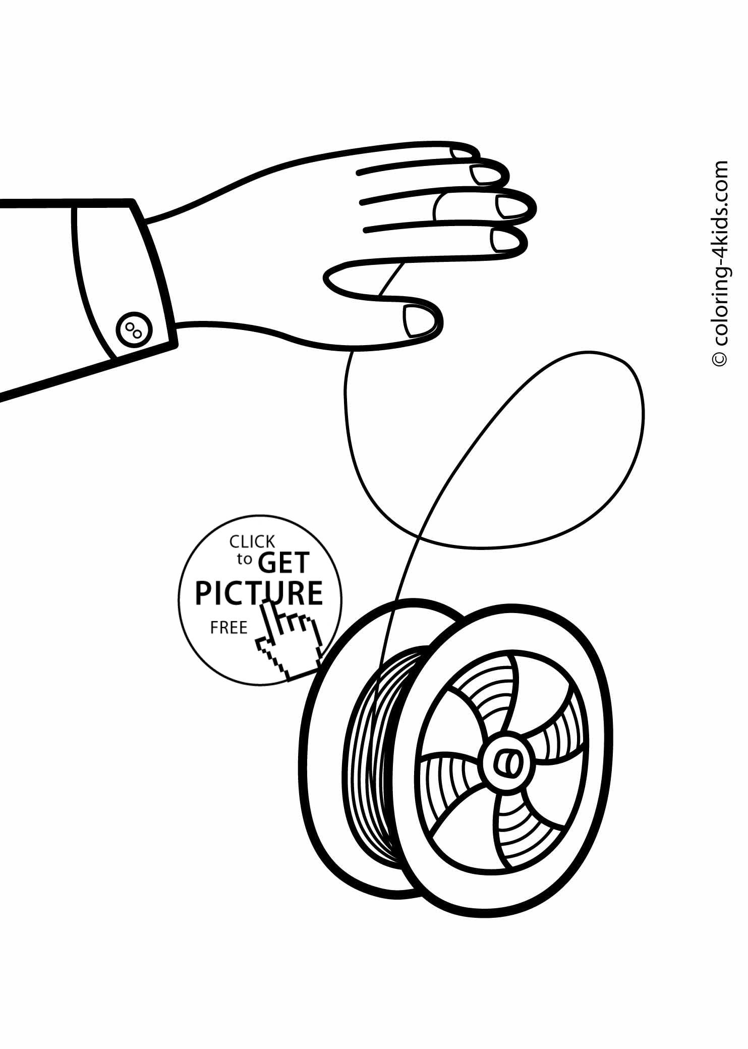 Do Yoyo Colouring Pages Sketch Coloring Page