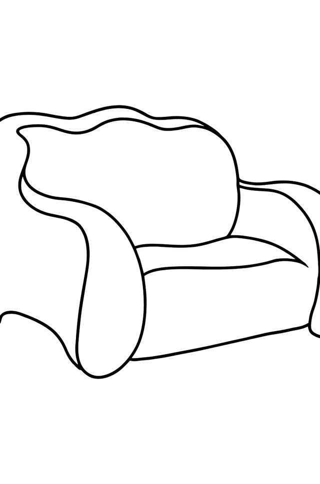 Pull Out Sofa coloring page ♥ for kids Online or Printable for Free!