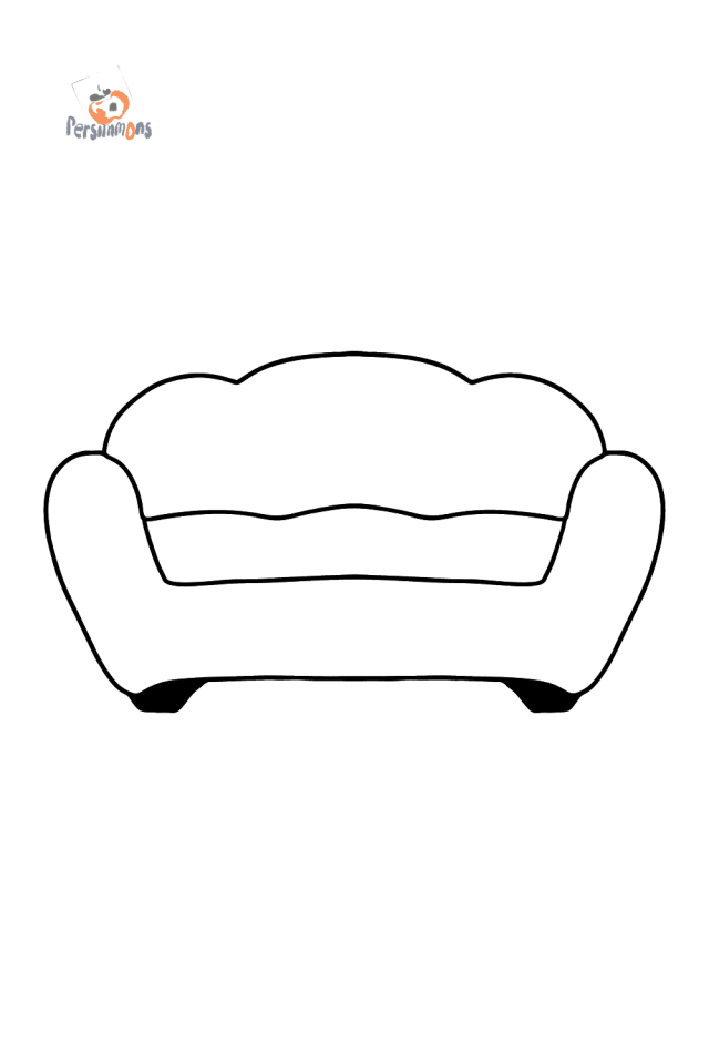 Red Sofa coloring page ♥ for kids Online or Printable for Free!
