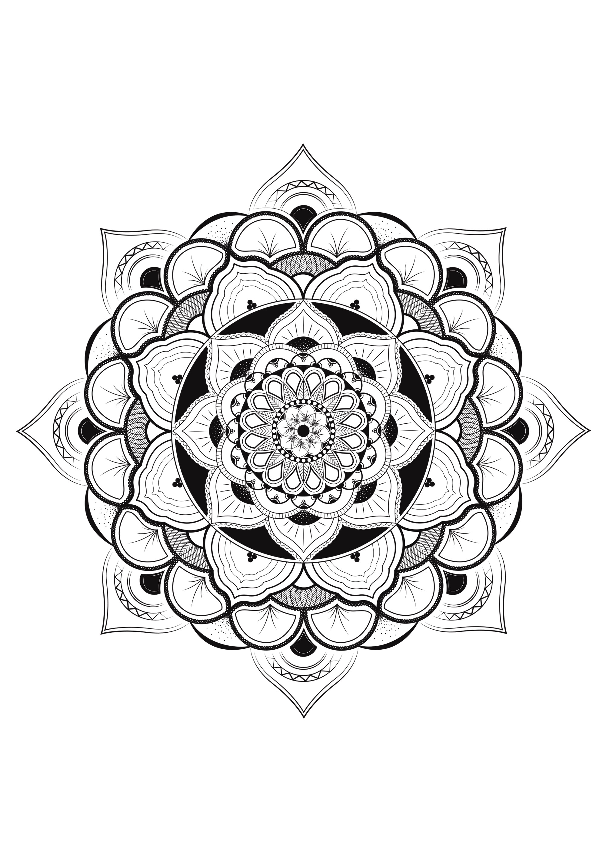 Free Collection Of Mandalas Coloring Pages