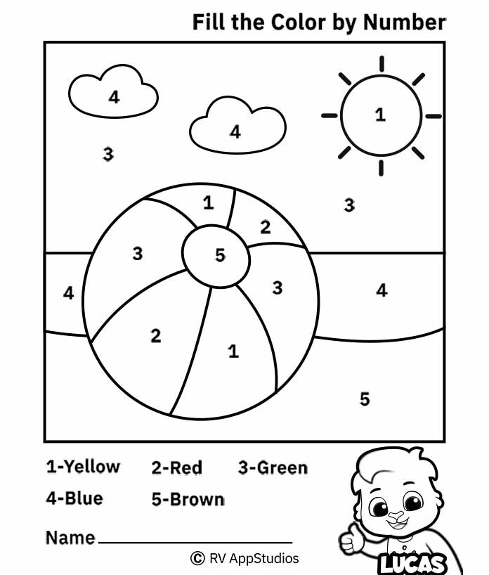 Color By Number Worksheets Free Printable Worksheets For Kids