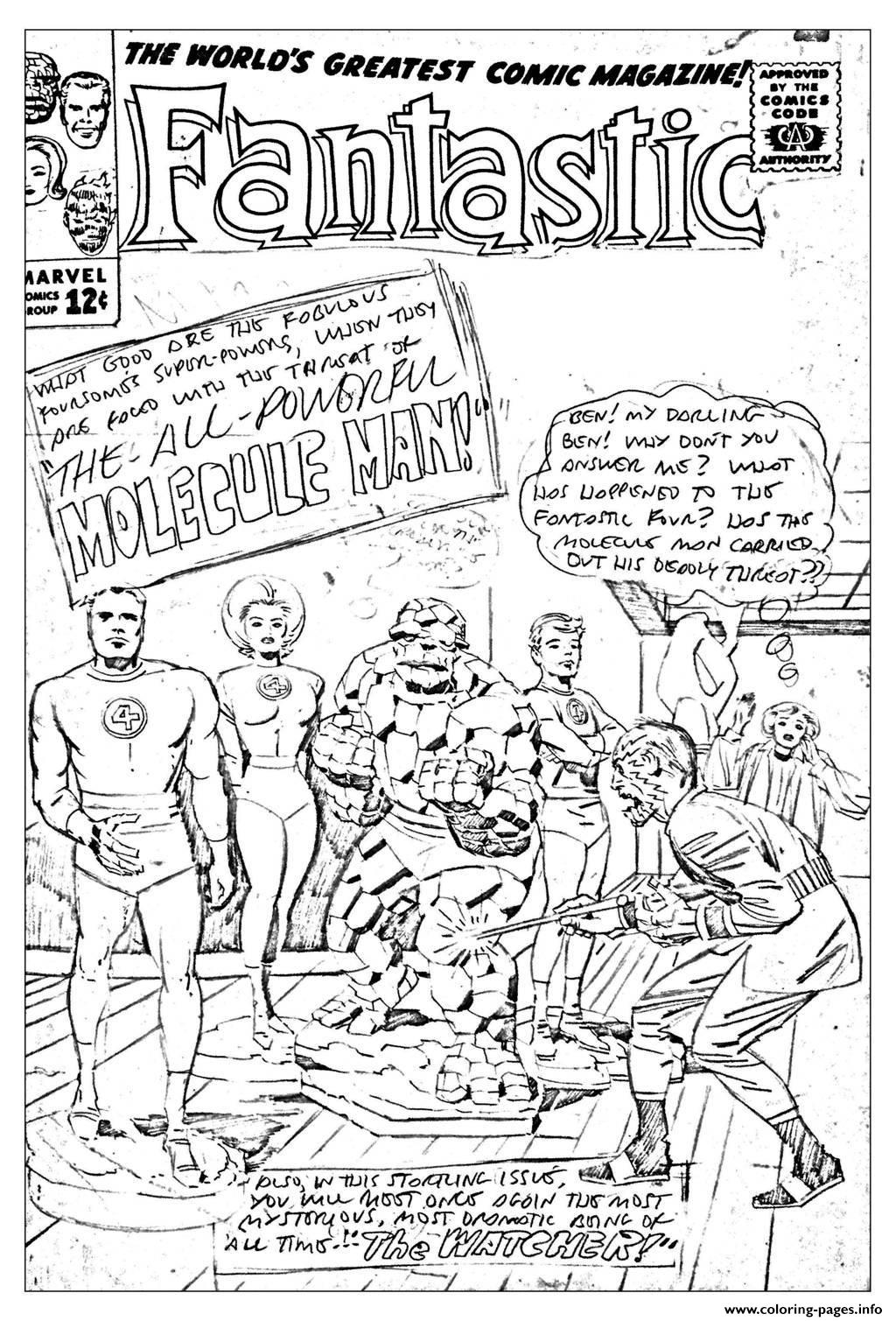 Adult Comics Fantastic For Unreleased Cover 1963 Coloring
