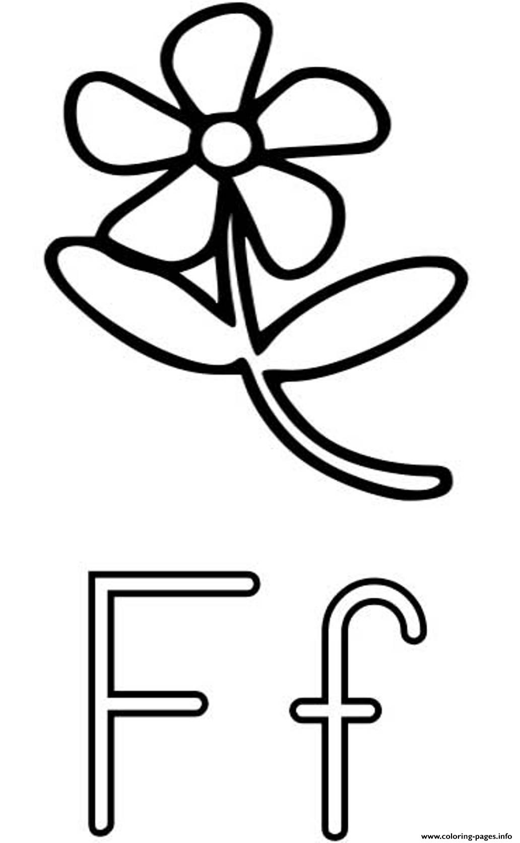 Flower F Free Alphabet S6a23 Coloring Pages Printable