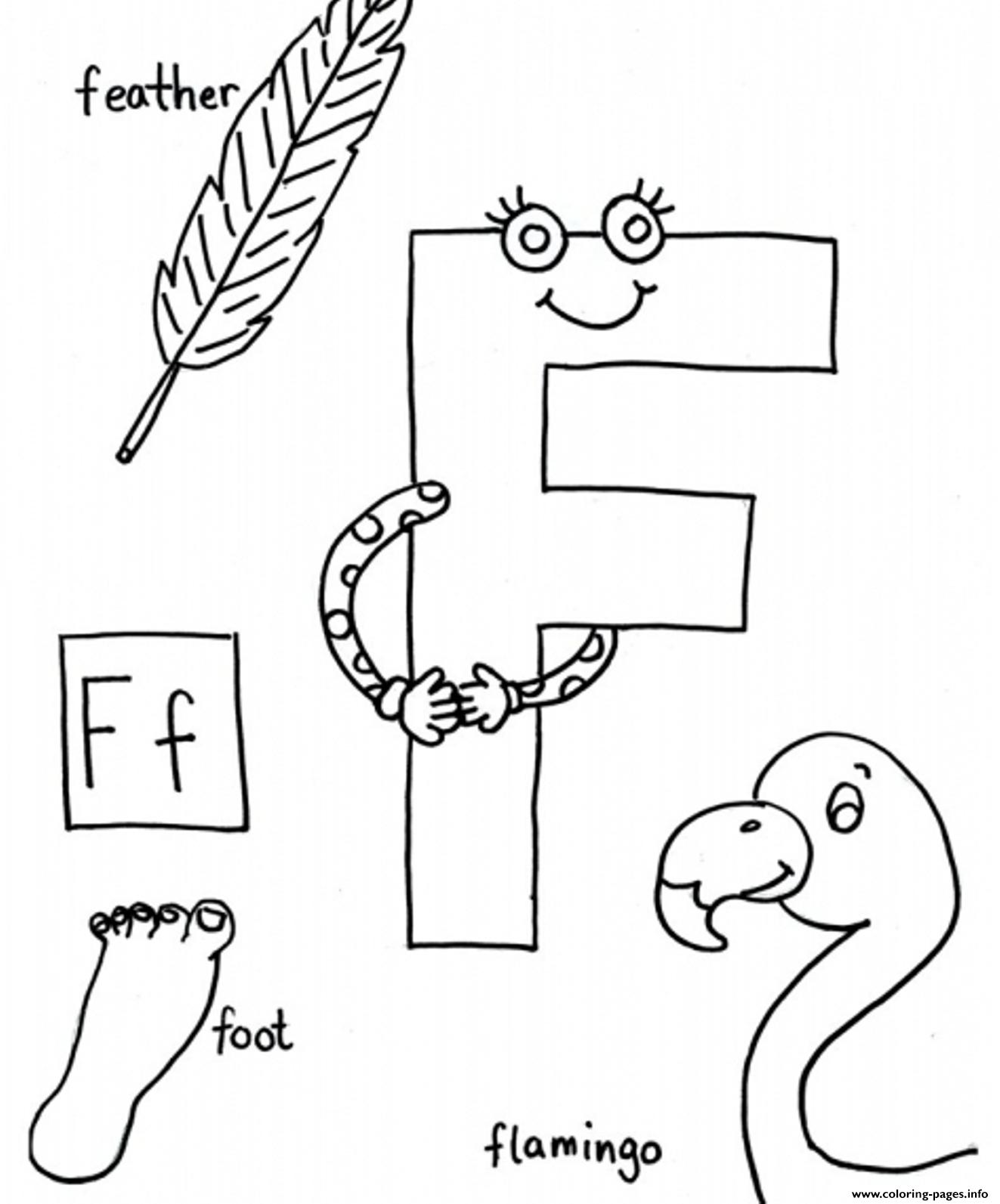 Words Of F Free Alphabet S Coloring Pages Printable