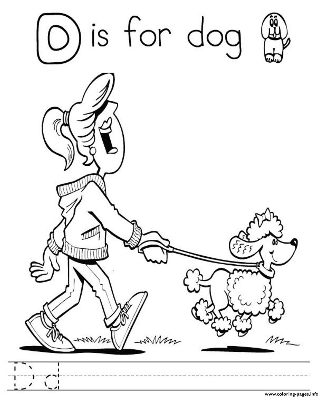 Printable Alphabet S Letter D Is For Dog7c59 Coloring Pages Printable