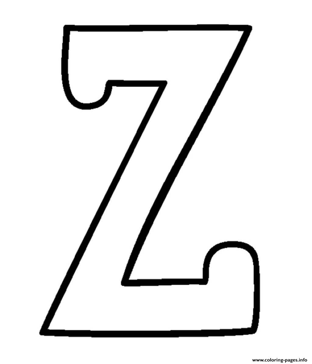 Free Z Alphabet S4d2b Coloring Pages Printable