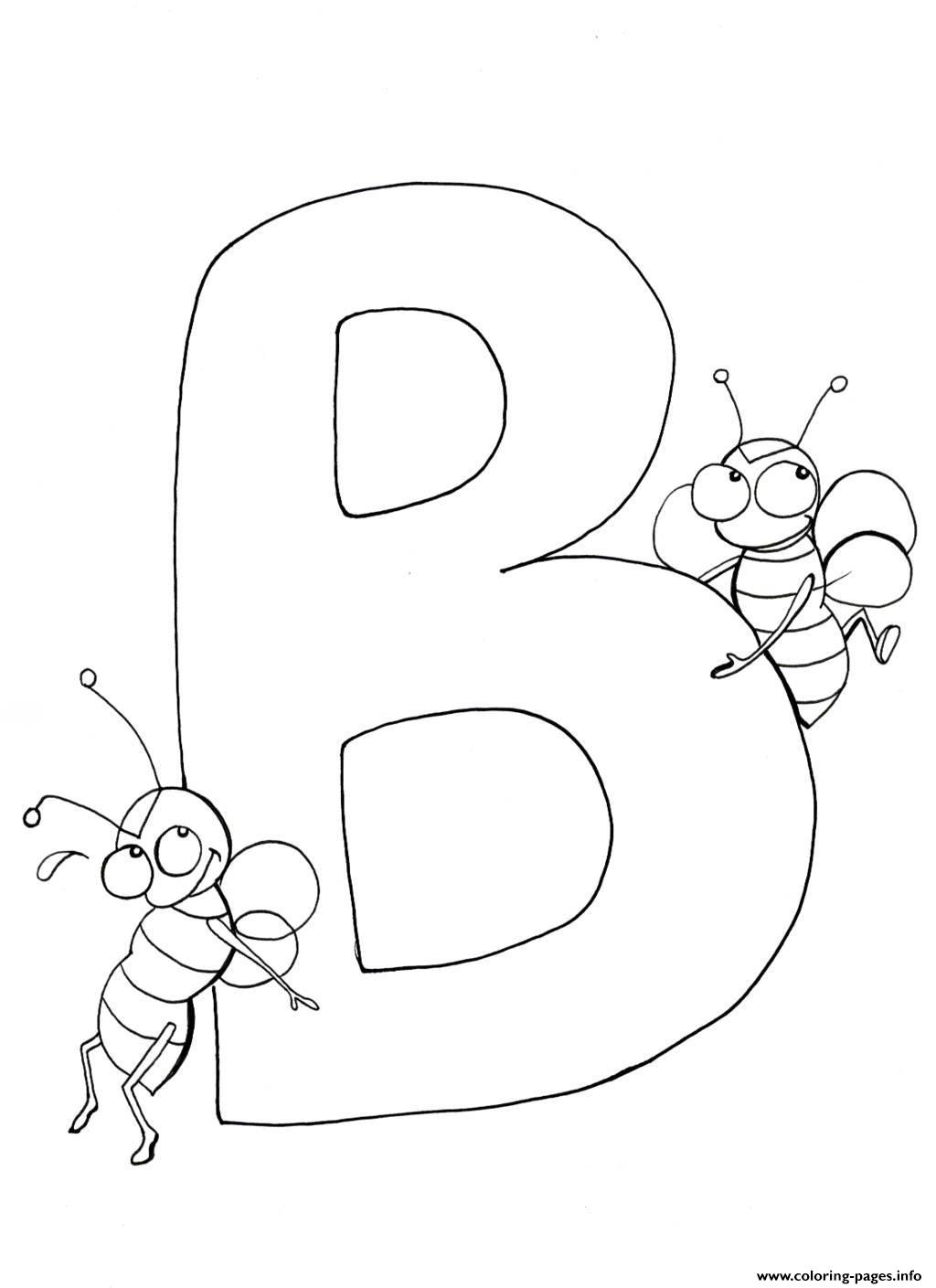 Bees Alphabet S869b Coloring Pages Printable