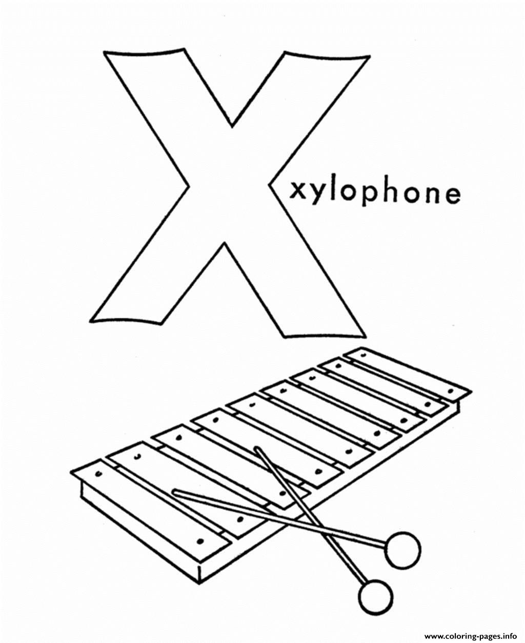 Alphabet S Xylophone53f4 Coloring Pages Printable