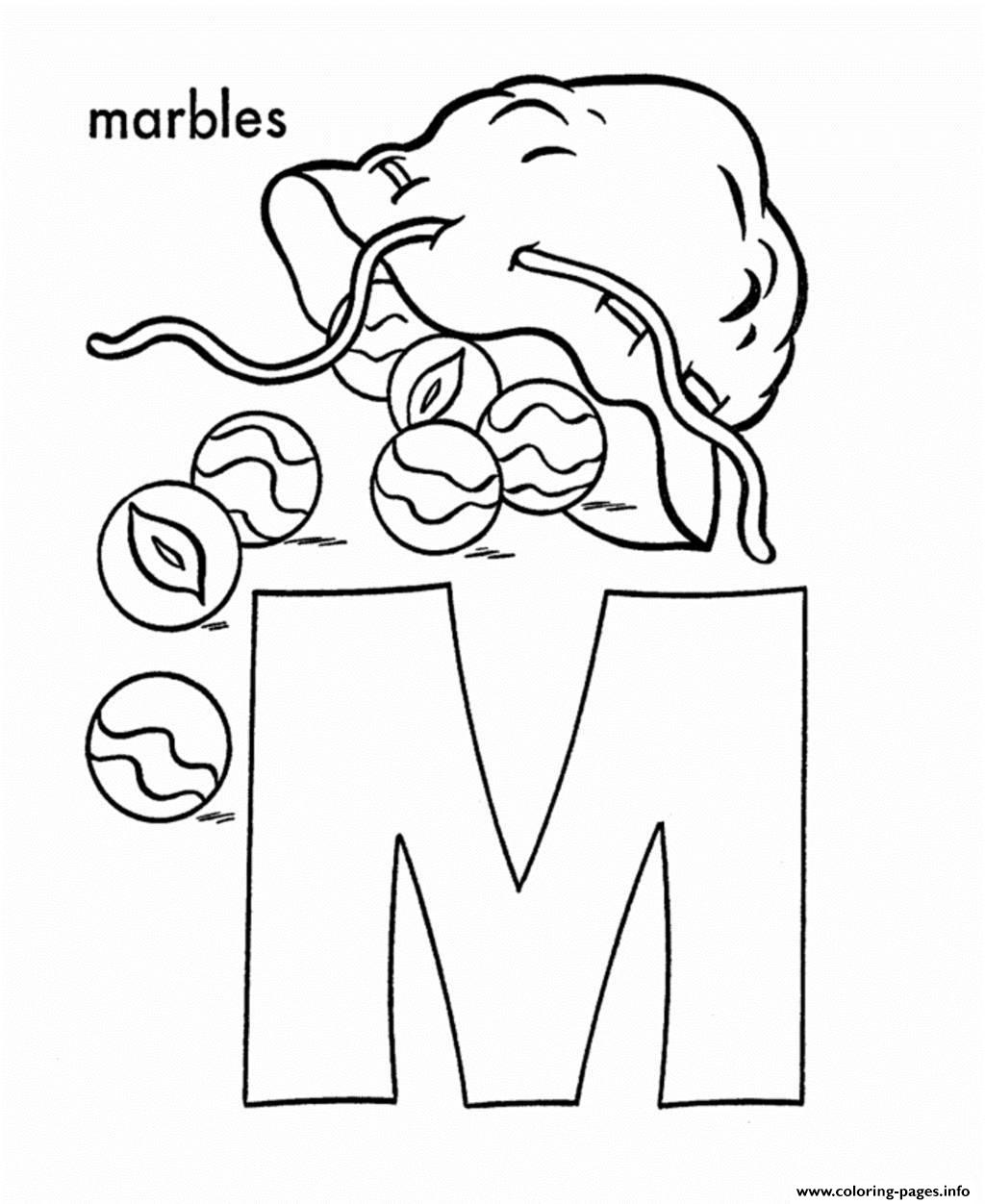 Free Alphabet S M For Marbles496b Coloring Pages Printable