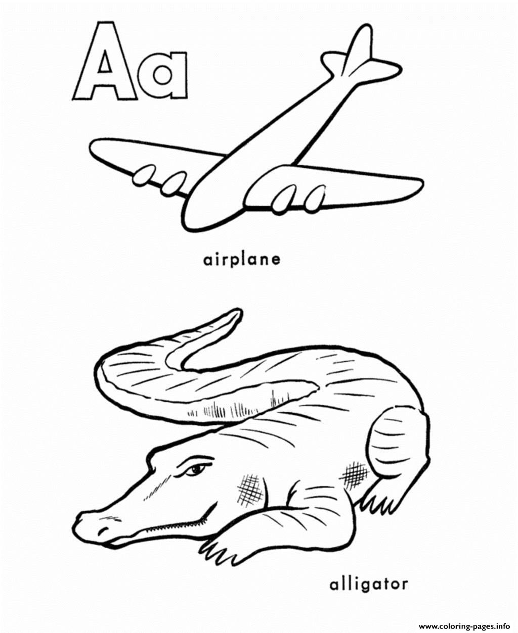 Alphabet S Printable A Is For Airplane And Alligator16e3
