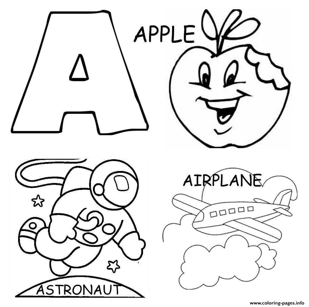 Alphabet S Printable Apple Airplane And Astronoute3af