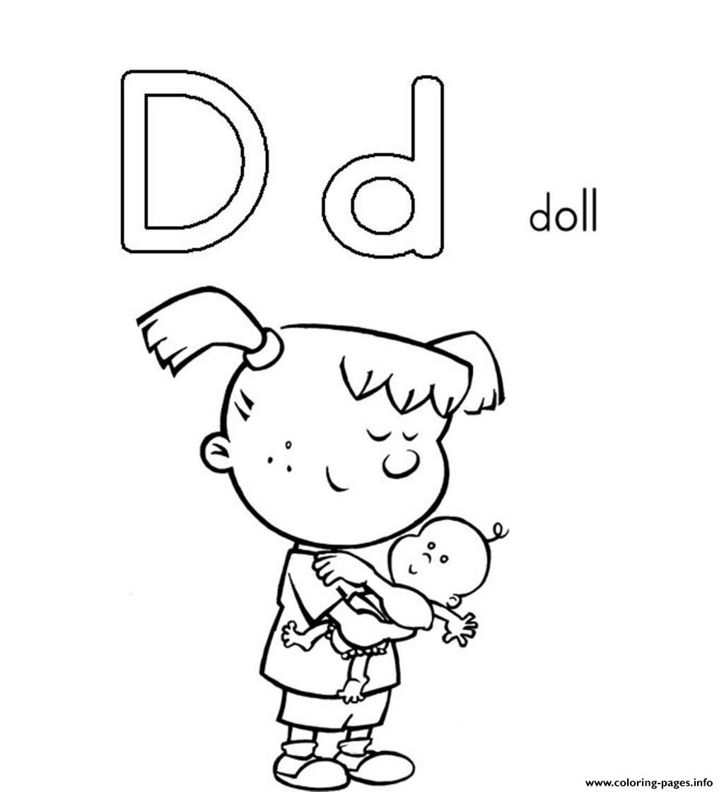 D Is For Doll Printable Alphabet S Free95a3 Coloring Pages