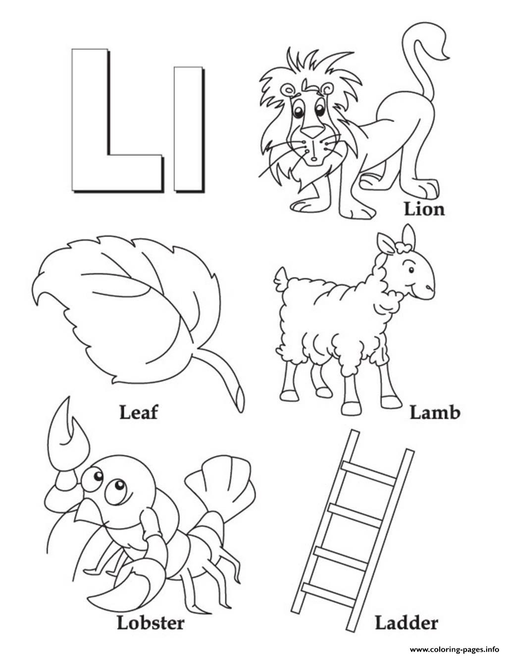 Alphabet S Free Words Of Lb9e1 Coloring Pages Printable