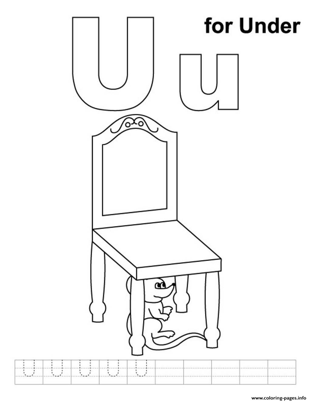 U For Under Alphabet S Freeffed Coloring Pages Printable