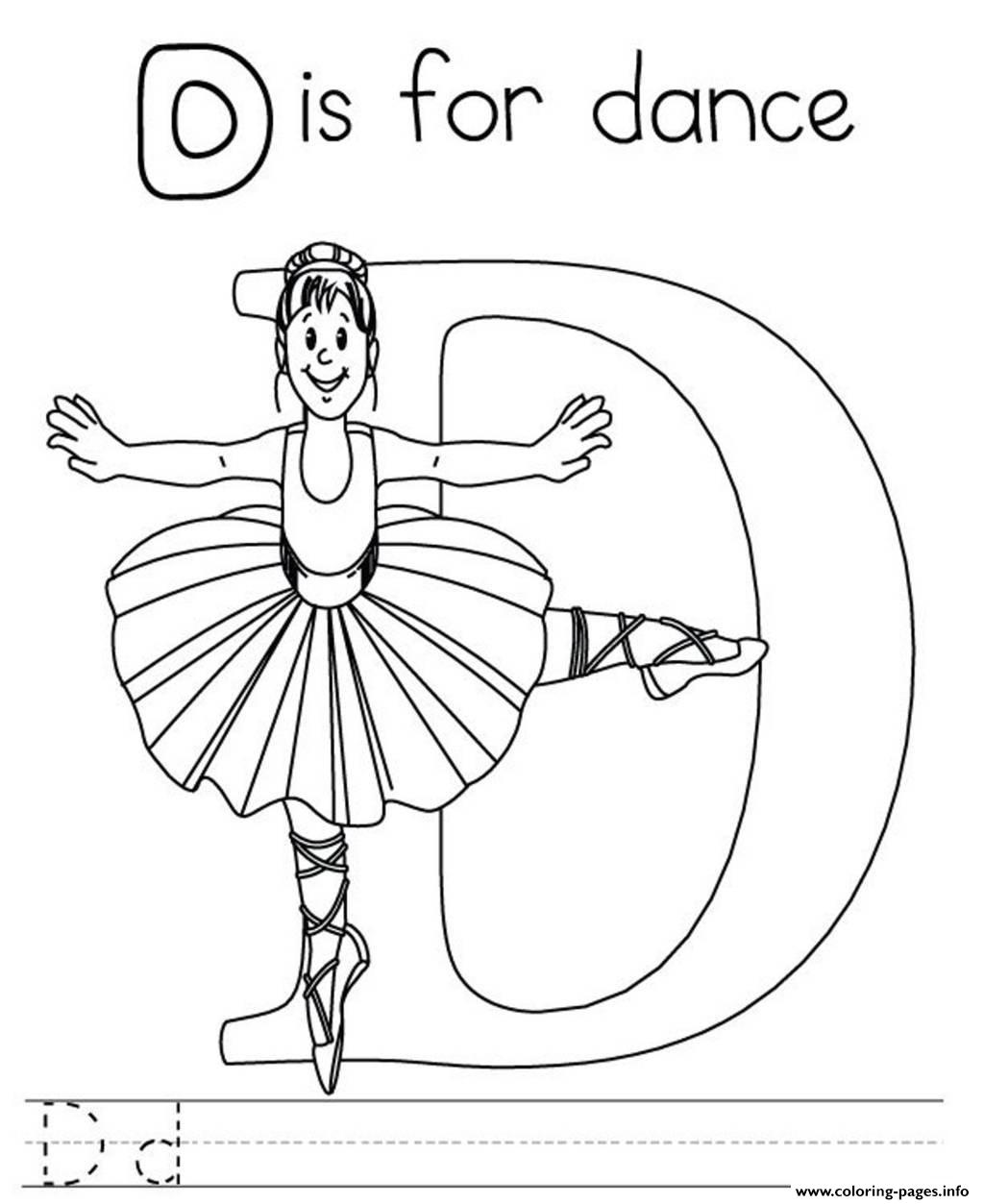 Printable Alphabet S Letter D For Dance0e7e Coloring Pages
