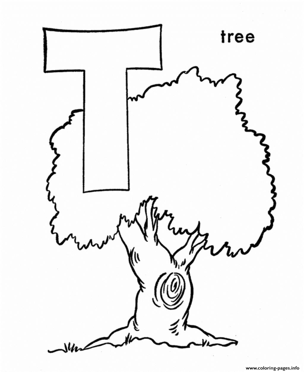 Tree Alphabet 943f Coloring Pages Printable
