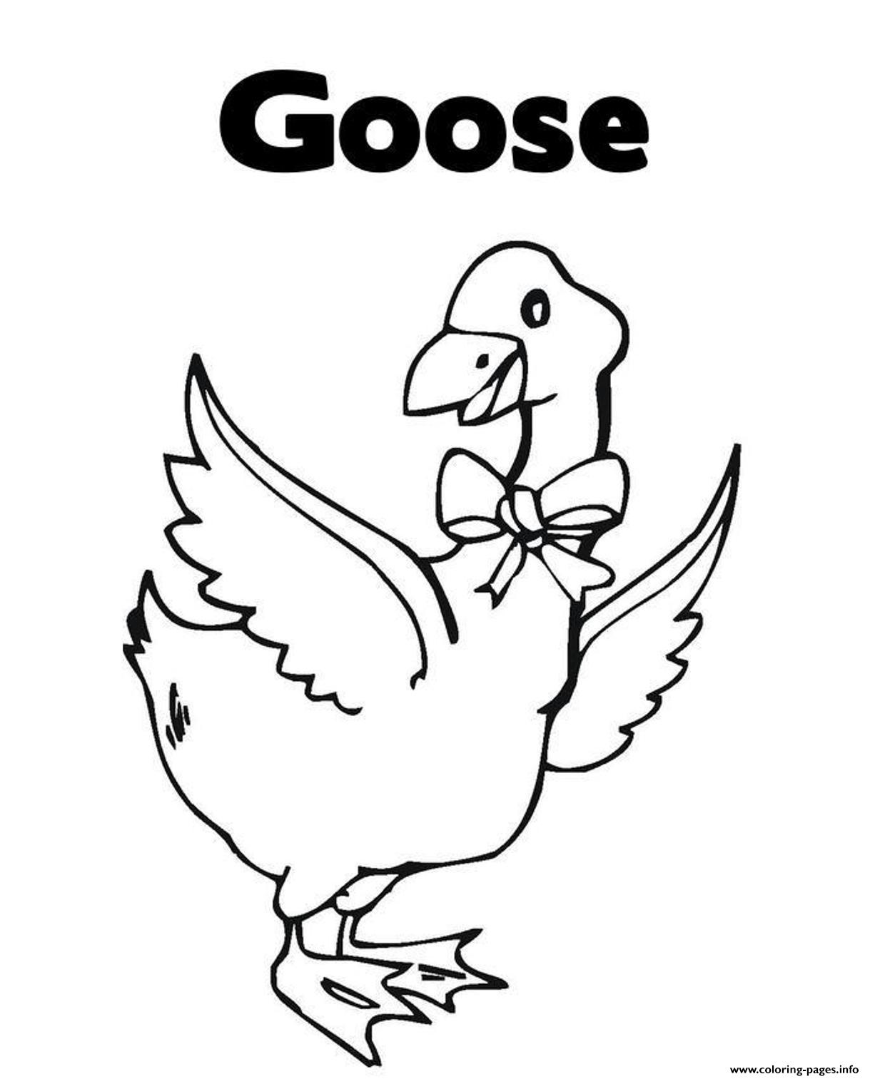 Printable Animal S Goose For Kids618d Coloring Pages Printable