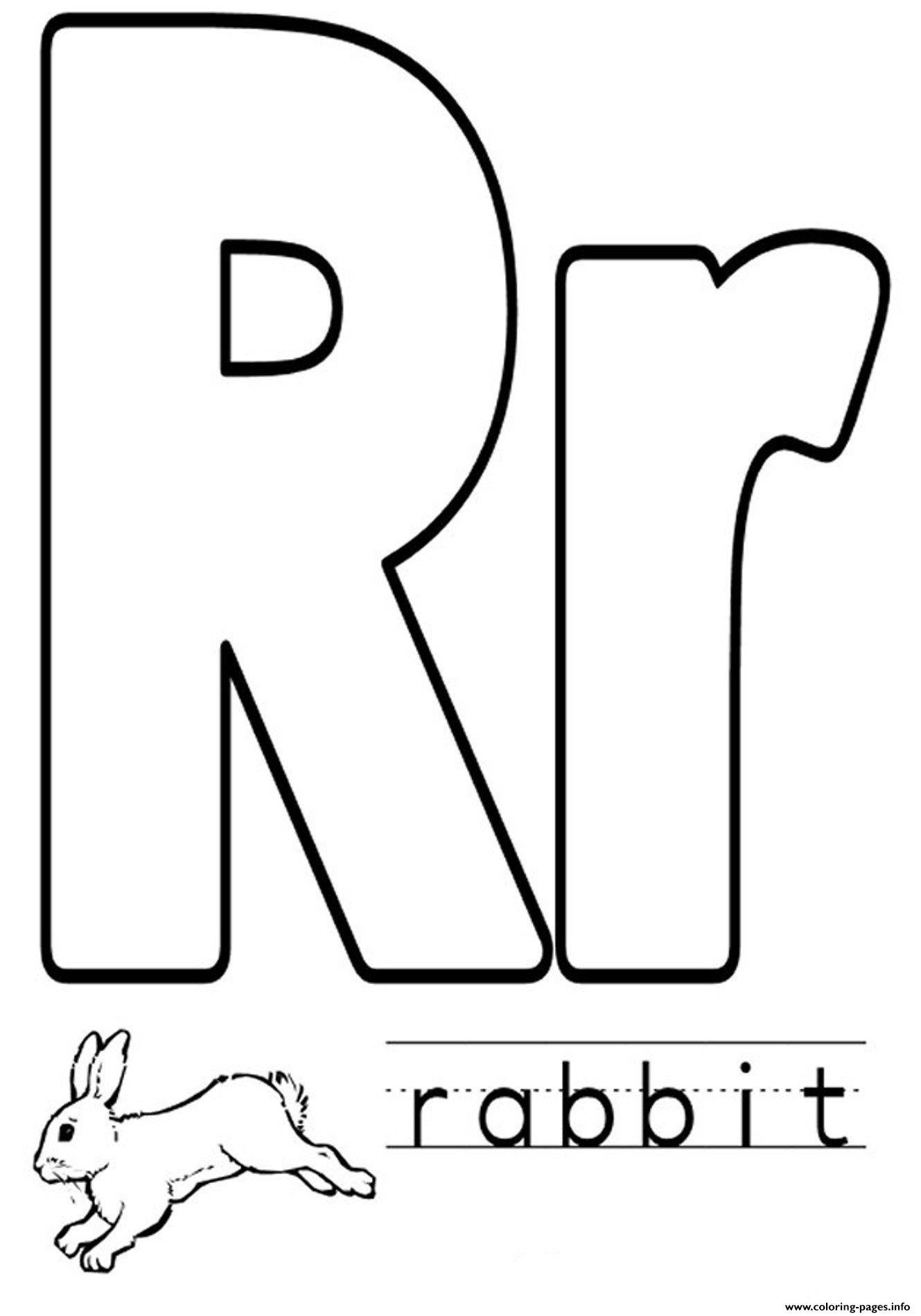 Animal Rabbit Free Alphabet Sa1af Coloring Pages Printable