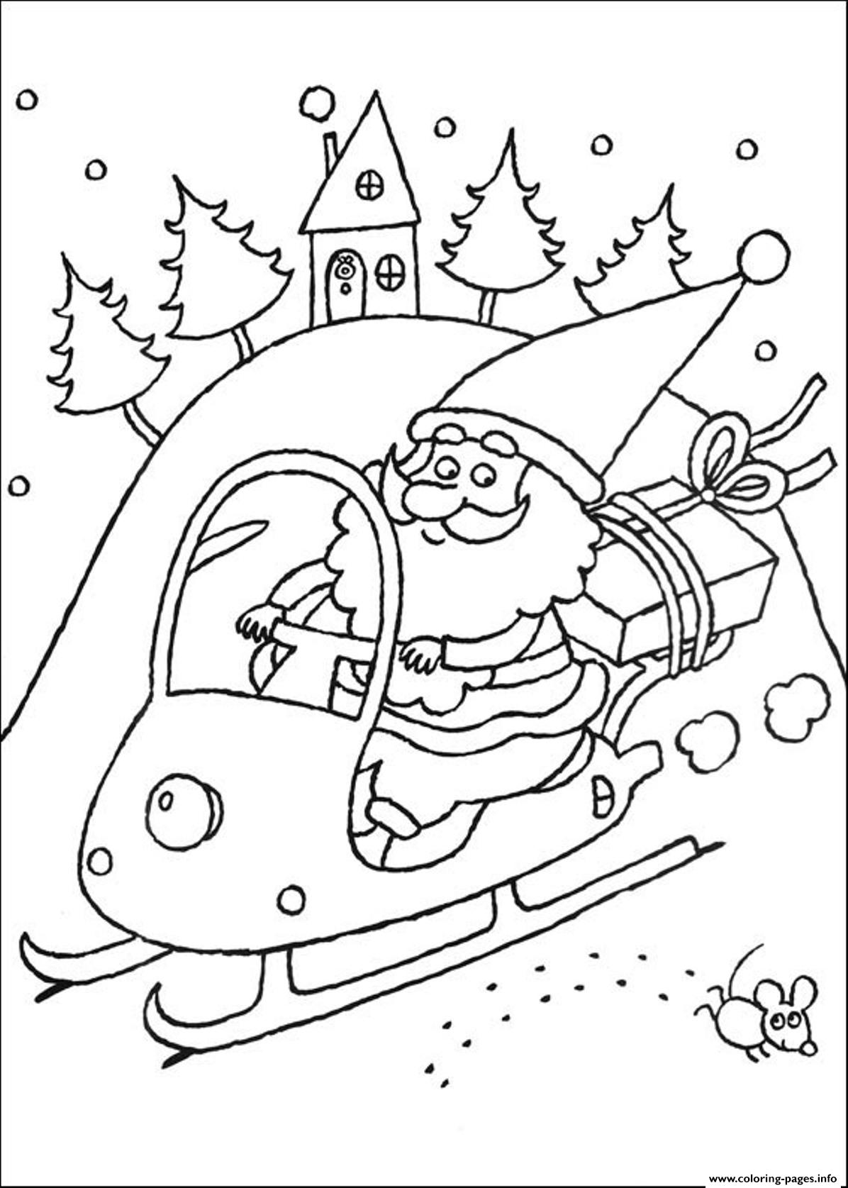 Coloring Pages Of Santa Claus Christmas New Yearda23