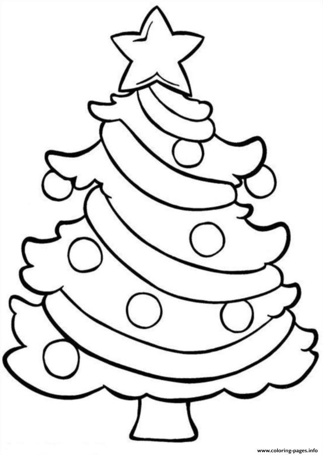 Coloring Pages Christmas Tree Easy E17f17df Coloring