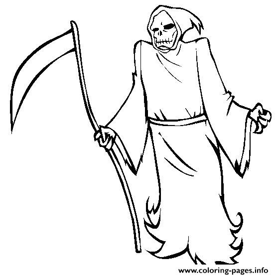 grim reaper coloring pages # 5