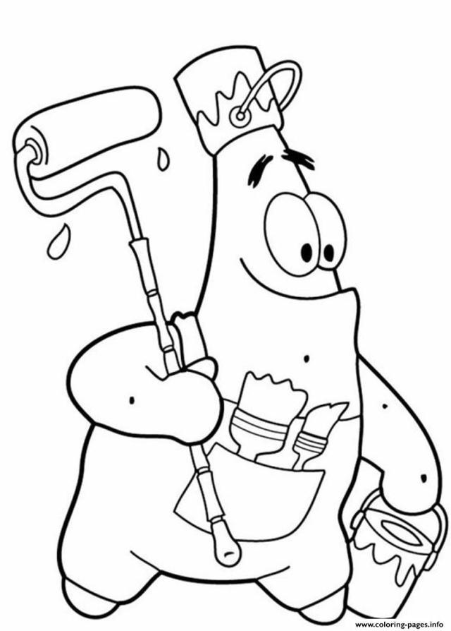 Funny Patrick Star S Spongebob Cartoon26d26c26 Coloring Pages Printable