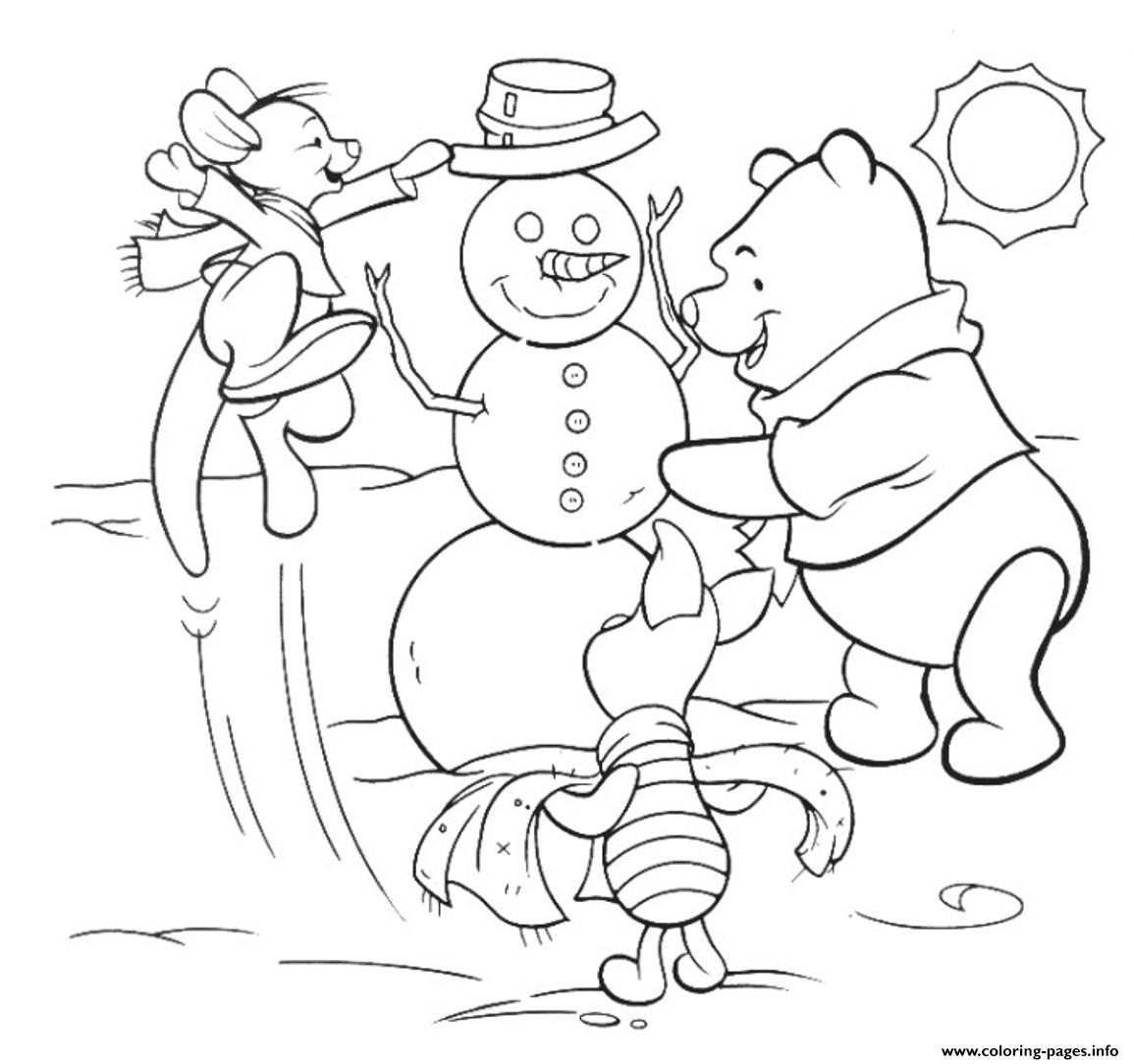 Winnie And Friends Making A Snowman Free Winter S