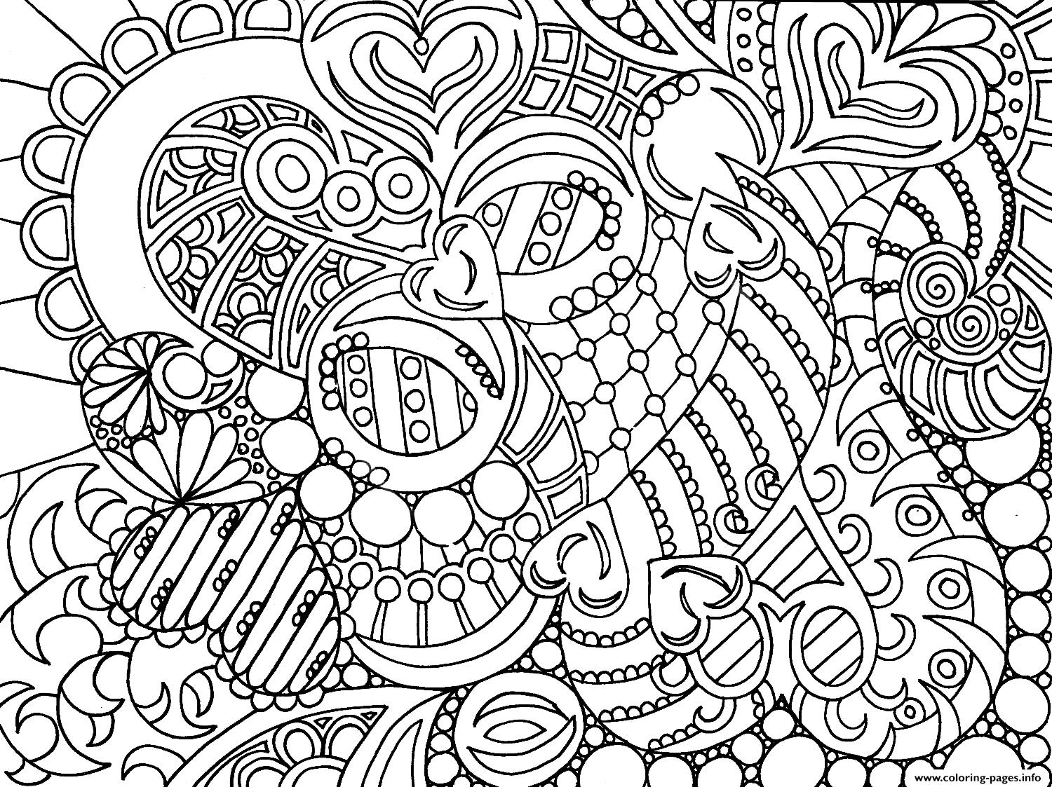 Very Cool Colouring For Adult Coloring Pages Printable | coloring pages for adults cool