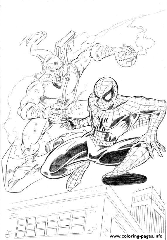 spiderman s green goblin82 coloring pages printable