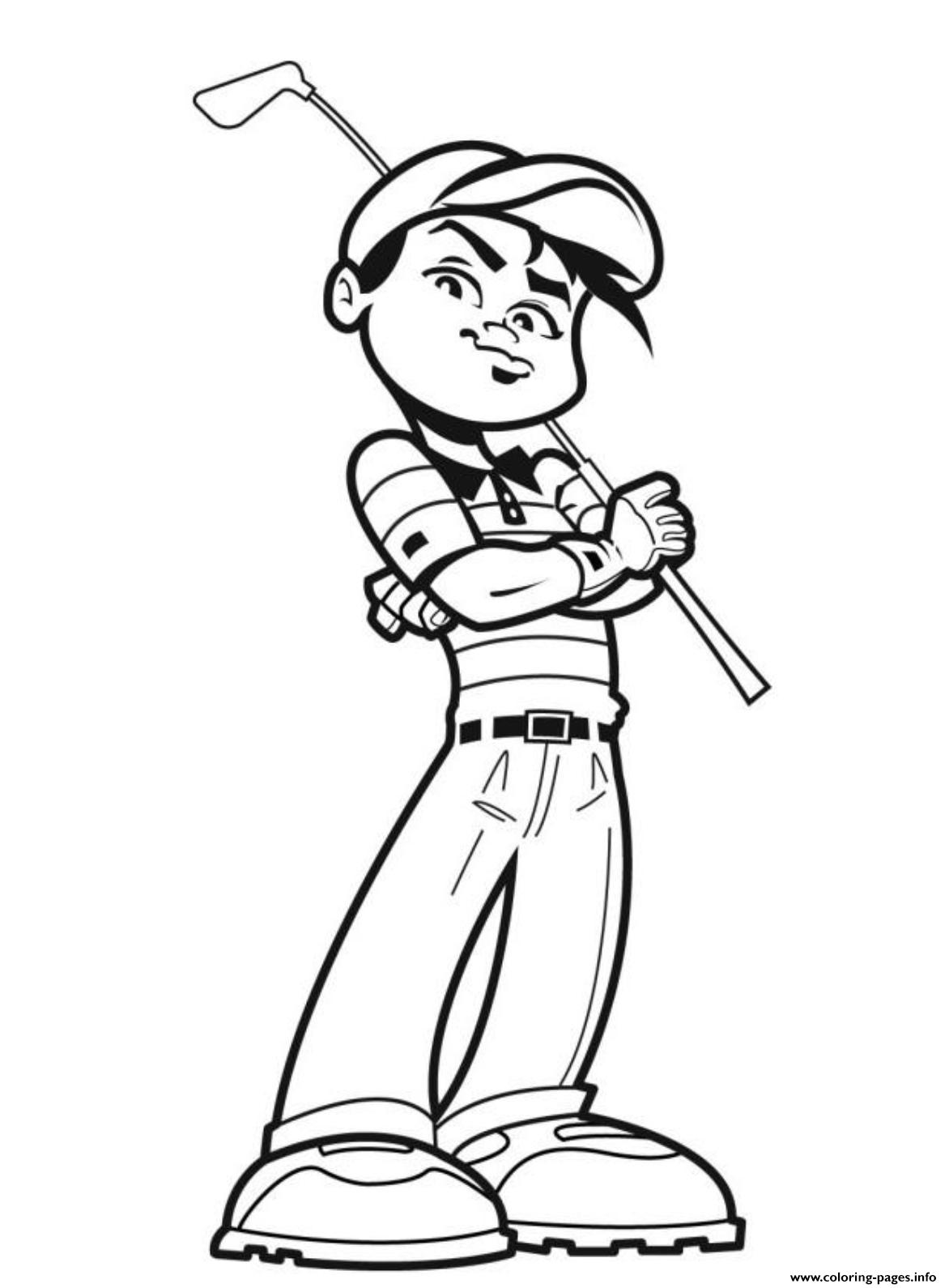Awesome Golfer Sports Sbd9a Coloring Pages Printable