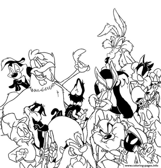Looney Tunes Cartoon Sfd28f Coloring Pages Printable