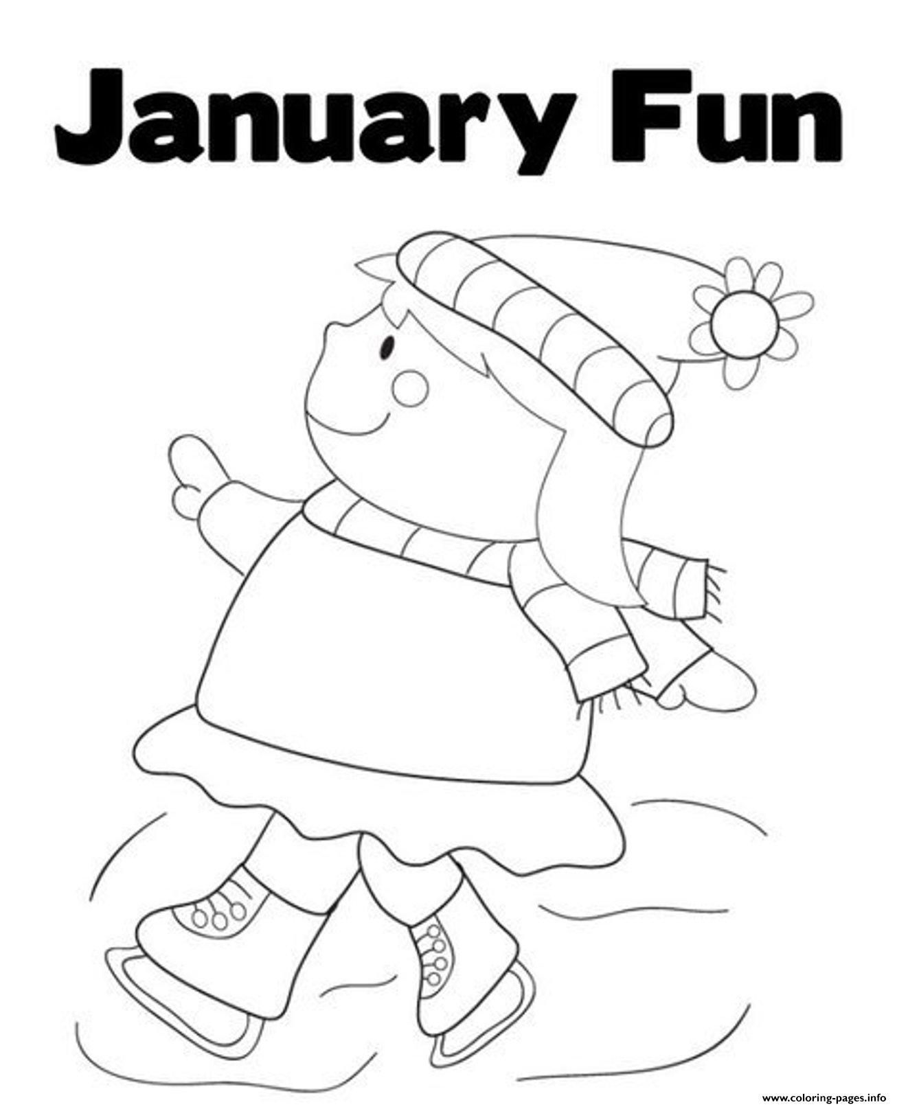 Winter S Printable January Fund743 Coloring Pages Printable