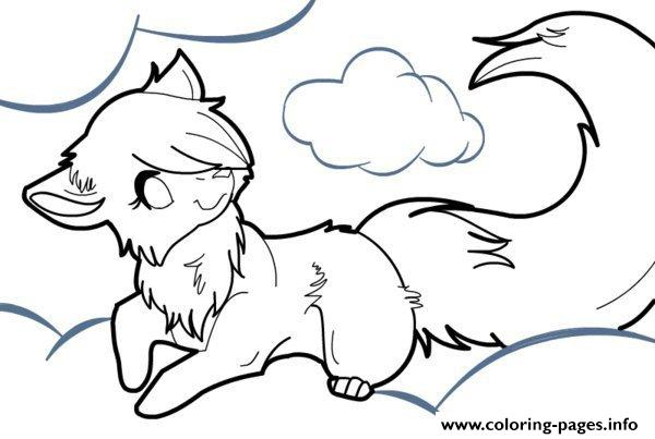 anime wolf coloring pages # 8