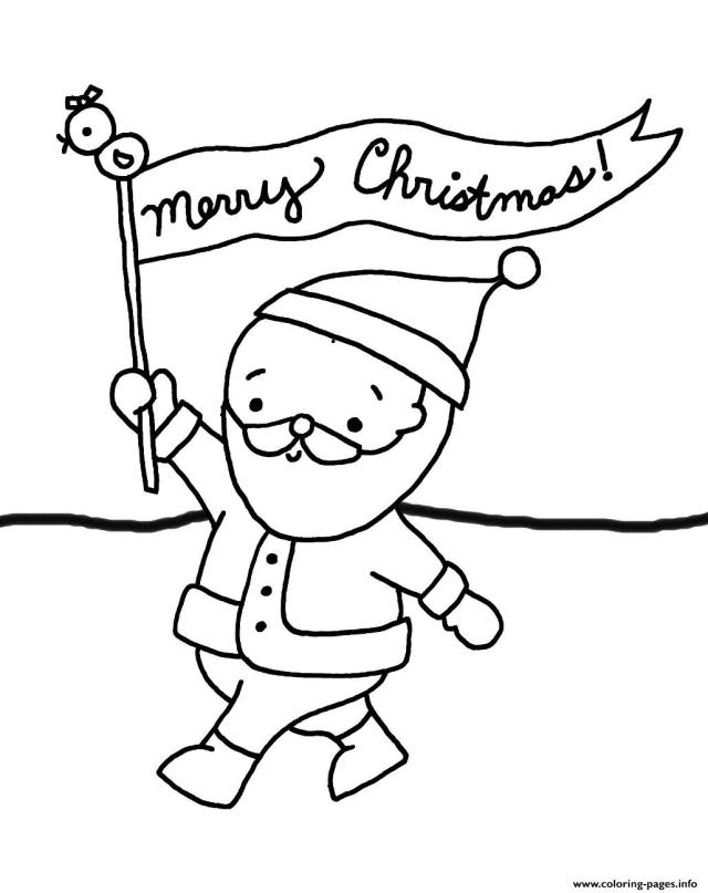 Santa Say Merry Christmas S For Kids30cc30 Coloring Pages Printable