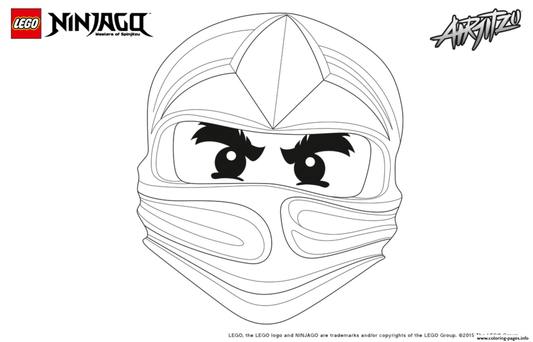 Ninjago Lego Cole Coloring Pages Printable