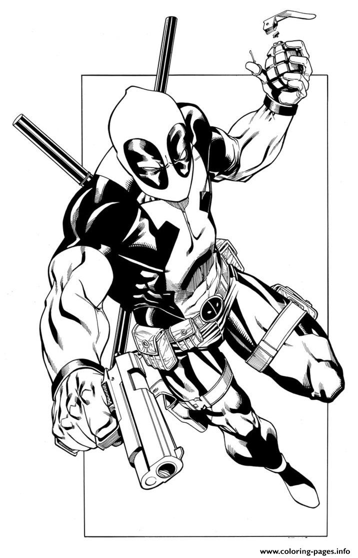 Deadpool 7 Coloring Pages Printable