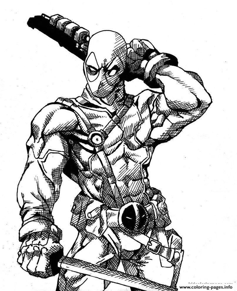 Deadpool Details Hd Coloring Pages Printable